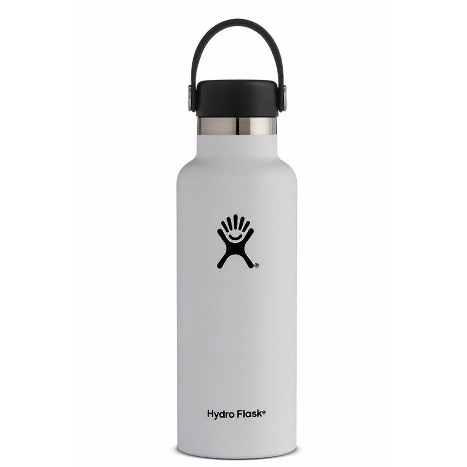 Hydro Flask 18oz Standard Mouth With Flex Cap - WHITE