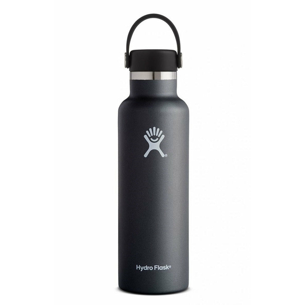Hydro Flask 21oz Standard Mouth With Flex Cap - BLACK
