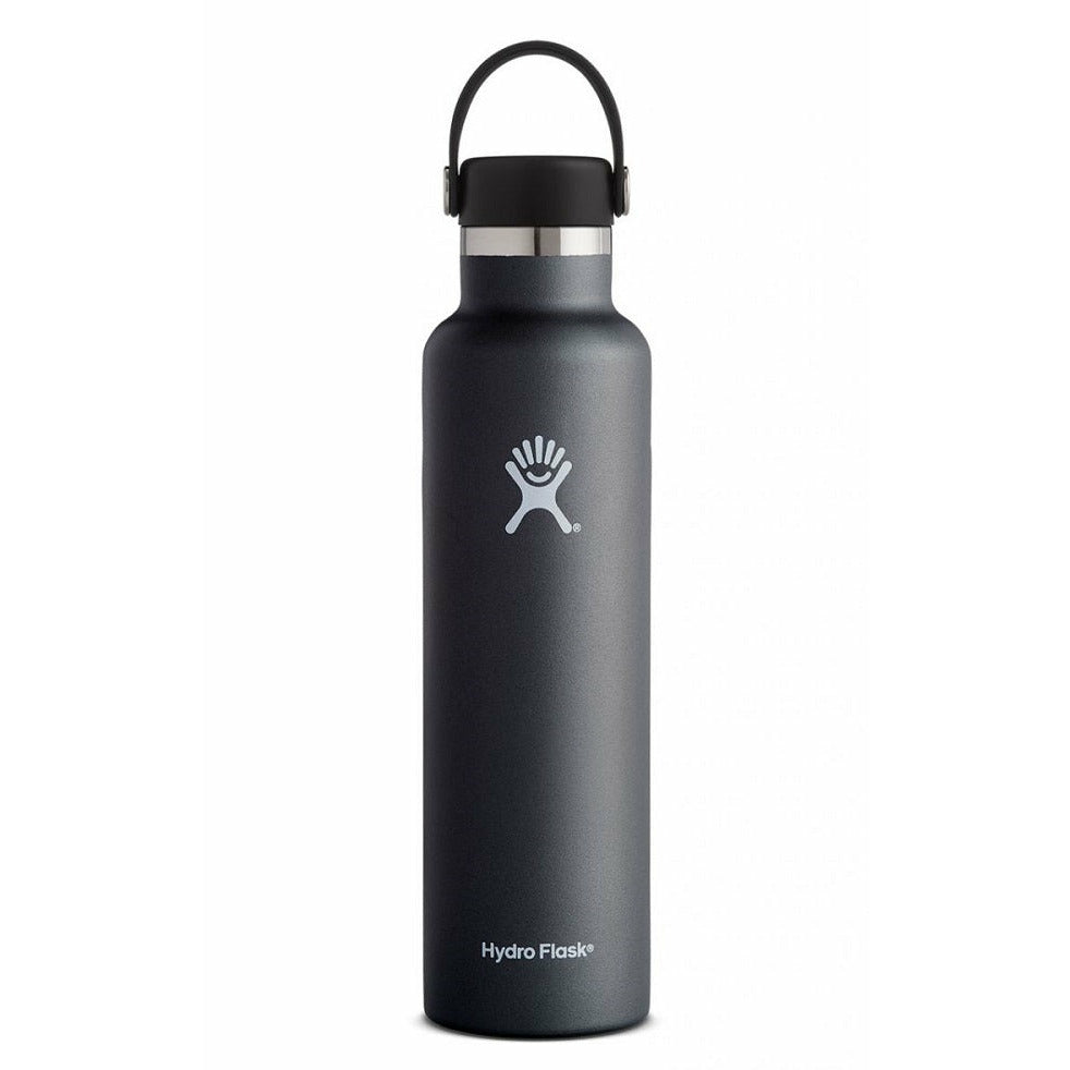 Hydro Flask 24oz Standard Mouth With Flex Cap - BLACK
