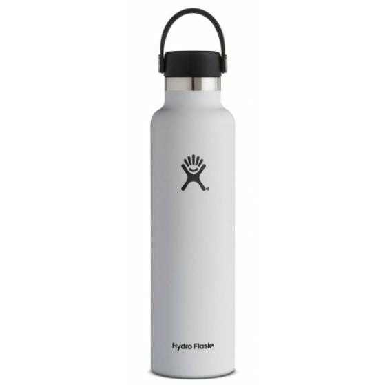 Hydro Flask 24oz Standard Mouth With Flex Cap - WHITE
