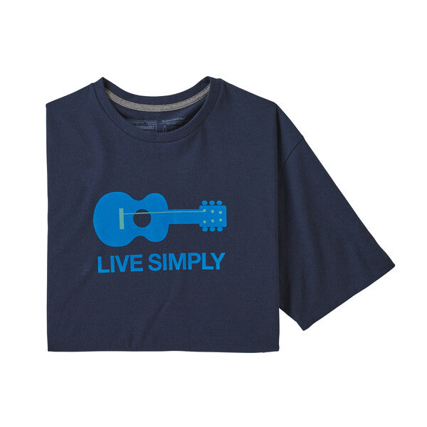 Patagonia Live Simply Guitar Responsibili-Tee - Classic Navy