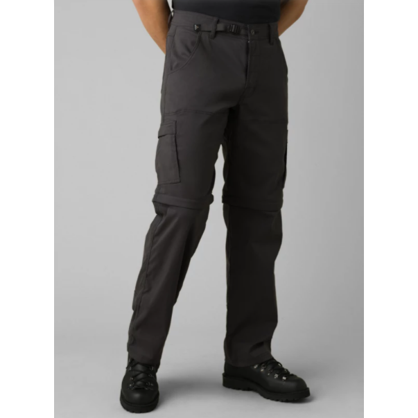 Prana Stretch Zion Convertible Pant - Charcoal