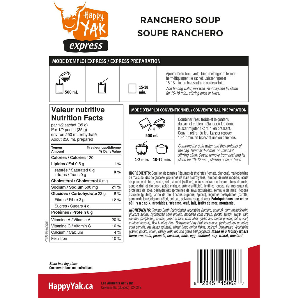 Happy Yak Ranchero Soup