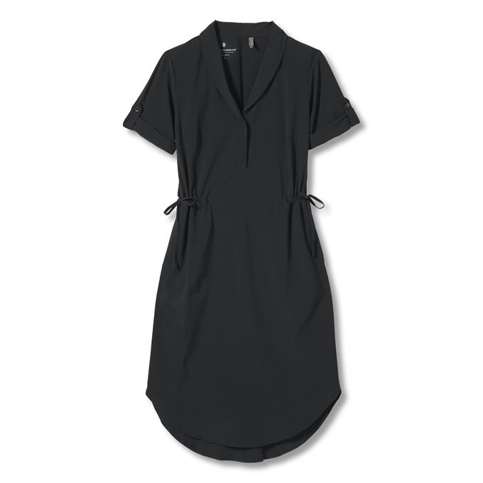 Royal Robbins Shortsleeve Spotless Traveler Dress Women's - BLACK