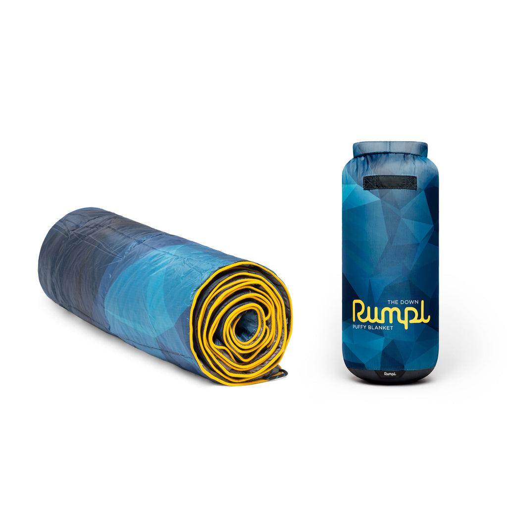Rumpl Printed Down Blanket - BLUE-FRA