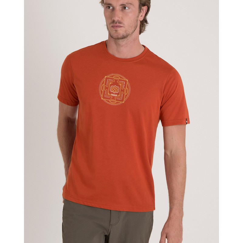 Sherpa Mandal Tee Men's - ORANGE