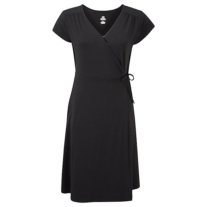 Sherpa Padma Wrap Dress Women's - BLACK