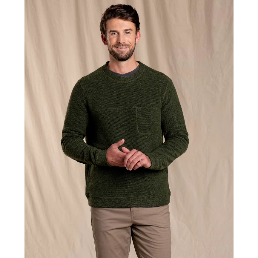Toad and Co Breithorn Crew Sweater Men's - OLIVE