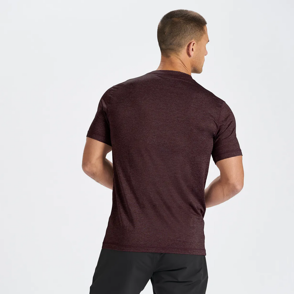 Vuori Tradewind Performance Tee Men's - OXBLOOD
