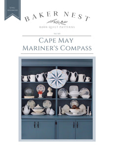 Cape May Mariner's Compass Barn Quilt Pattern