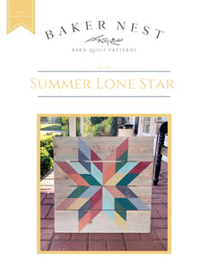 Summer Lone Star Barn Quilt Pattern