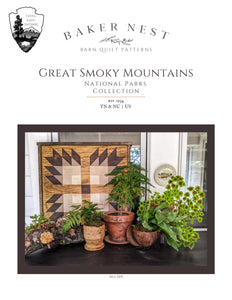 Great Smoky Mountain Barn Quilt Pattern