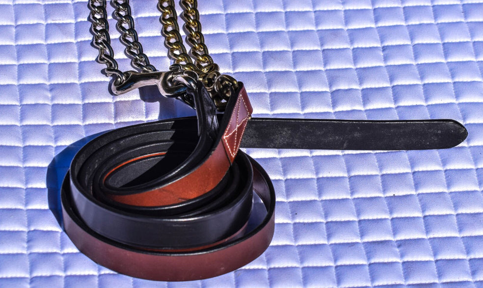 Leather Lead with Chain