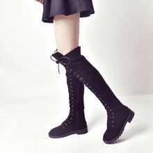 Load image into Gallery viewer, Boots,Over the knee Lace-up Riding Boots