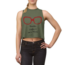 Load image into Gallery viewer, Books Coffee and 90's Music Crop Top,Tank Top,pinkreb