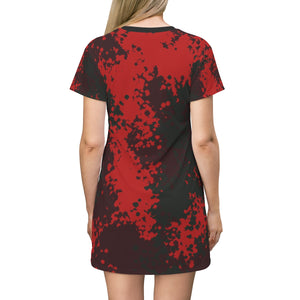 Dress,Camo Style T-shirt Dress