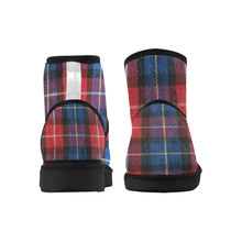 Load image into Gallery viewer, Low Top Unisex Snow Boots (049),plaid Low Top Unisex Snow Boots (Model 049)
