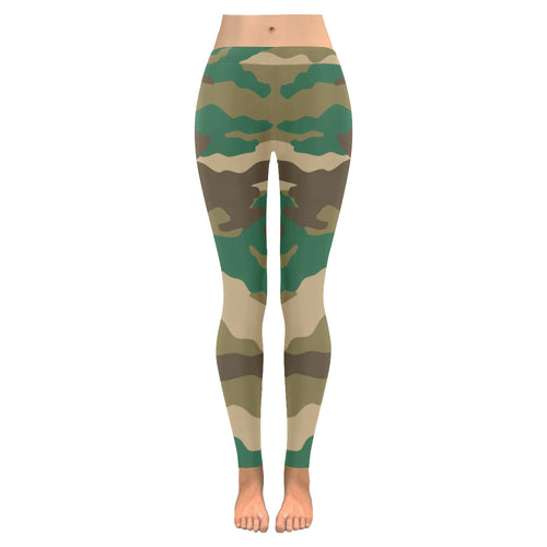 Army Print Leggings,leggings,pinkreb