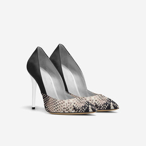 Snake Skin Pointed Toe Pump