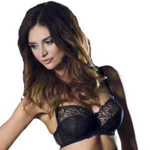 Women's Clothing,Full Figure Semi Sheer Lace Bra Caprice Obsession