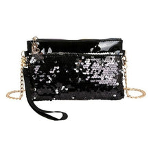 Load image into Gallery viewer, Women Beautiful Handbag Sequins Chain Shoulder Bag,Bags & Wallets,pinkreb