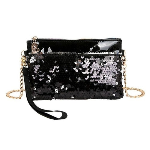 Women Beautiful Handbag Sequins Chain Shoulder Bag,Bags & Wallets,pinkreb