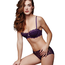 Load image into Gallery viewer, Lace Keyhole Balconnet Bra Montelle Intimates