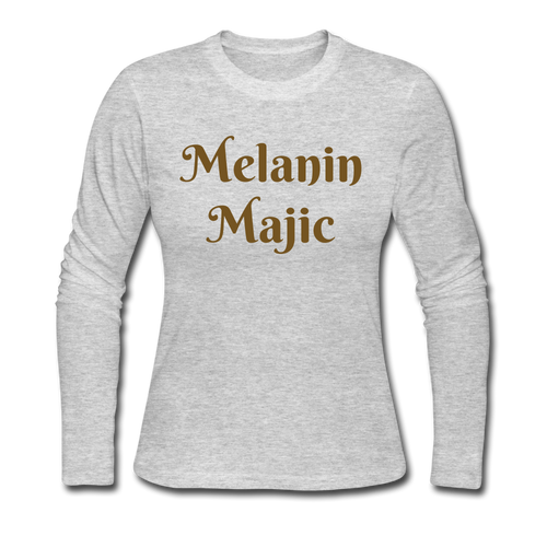 Women's Long Sleeve Jersey T-Shirt,Melanin Majic