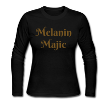 Load image into Gallery viewer, Women's Long Sleeve Jersey T-Shirt,Melanin Majic
