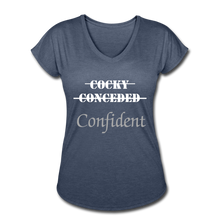 Load image into Gallery viewer, Women's Tri-Blend V-Neck T-Shirt,Confident Women's T-shirt