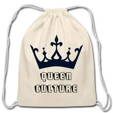 Load image into Gallery viewer, Cotton Drawstring Bag,Queen Culture Cotton Drawstring Bag