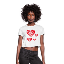 Load image into Gallery viewer, Women's Cropped T-Shirt,Heart Women's Cropped T-Shirt