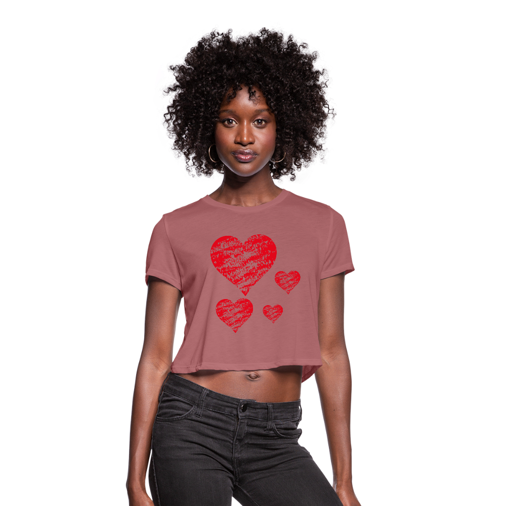 Women's Cropped T-Shirt,Heart Women's Cropped T-Shirt