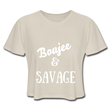 Load image into Gallery viewer, Women's Cropped T-Shirt,Boujee & Savage