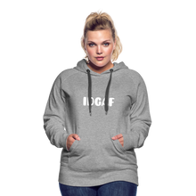 Load image into Gallery viewer, IDGAF Women's  Hoodie - heather gray