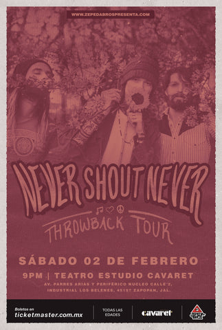 NEVER SHOUT NEVER  |  SATURDAY, FEBRUARY 2nd