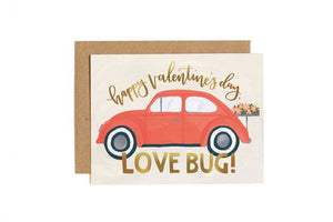 Love Bug Valentine's Day Greeting Card Stationery