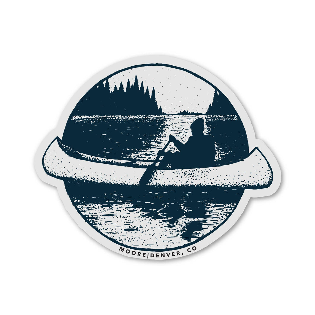 Moore Collection - Canoe Sticker