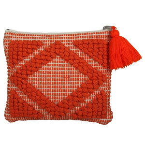 Handmade Cusco Clutch, Burnt Orange_ 8.5 x 9 inch
