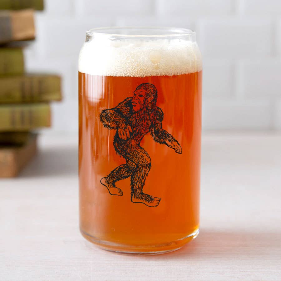 Sasquatch Beer Can Glass