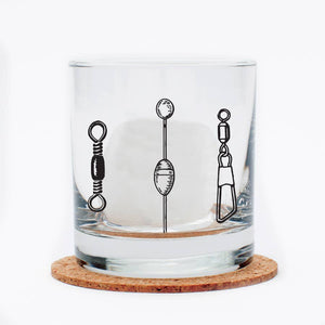 Counter Couture - Fishing Lures Whiskey Glass