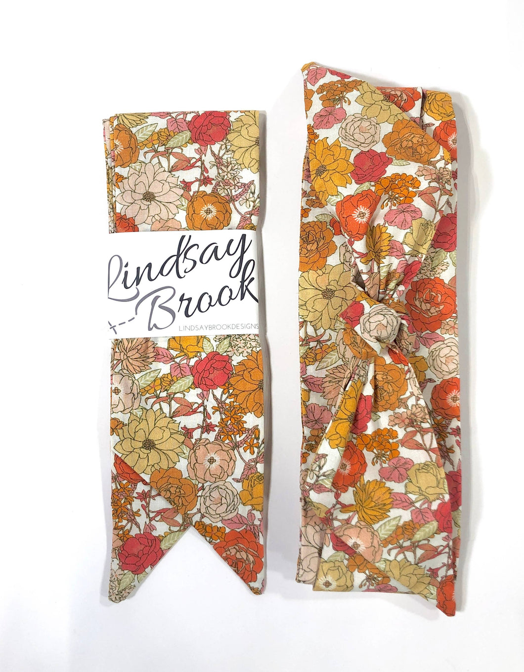 Marigold Floral Hair Scarf - Lindsay Brook Designs