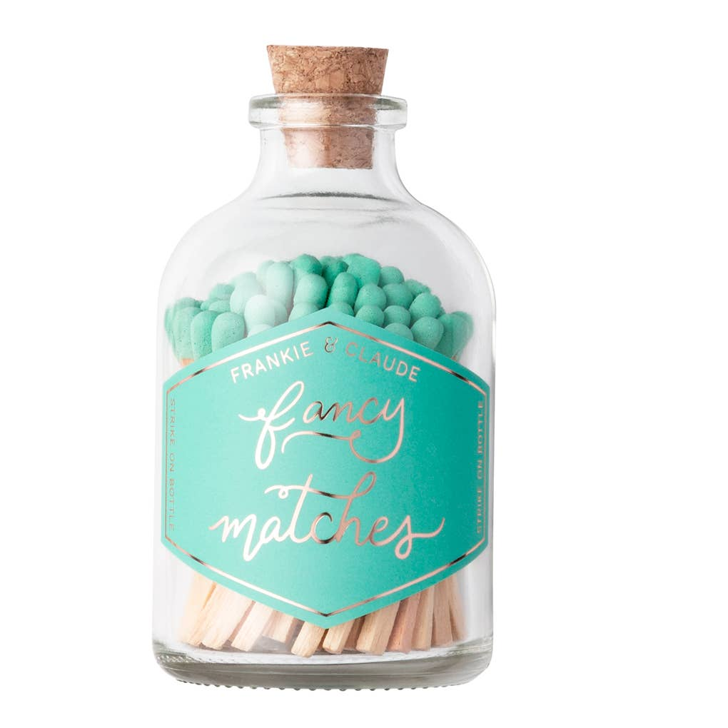 Fancy Matches: Seafoam Small Match Jar