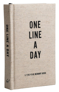 One Line A Day - 5 Year Memory Journal