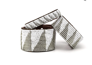 Swahili Coast - Black & Silver Cuff Collection