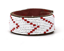 Load image into Gallery viewer, Swahili Coast - Black & Red Cuff Collection