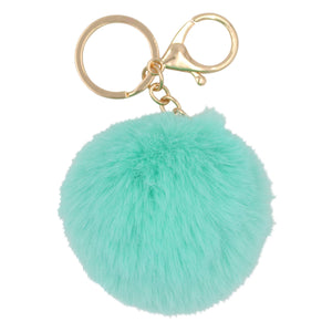 Pom Pom Key chain - Teal