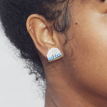 Load image into Gallery viewer, Beaded Stud Earring - Arc