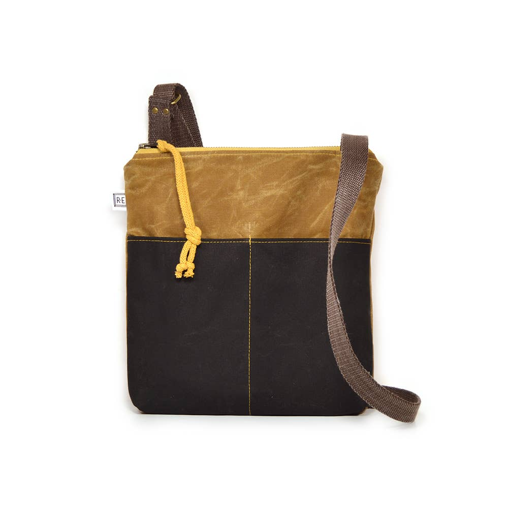 Rachel Elise - Weekdayer - Waxed Canvas // Vegan Crossbody Bag