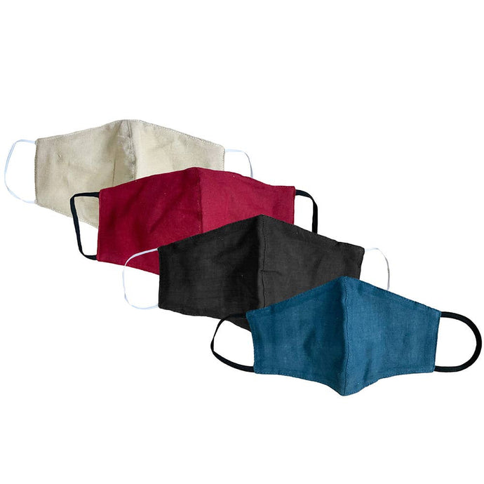 Cotton Wide Face Masks w/Filter Slip